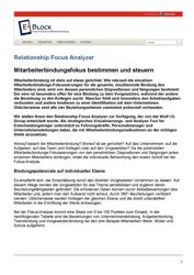 Fachartikel Relationship Fokus Analyzer