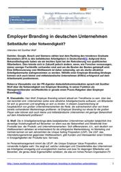 Employer Branding in deutschen Unternehmen