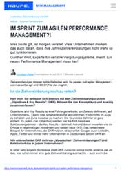 Fachartikel Agiles Performance Management Fachbeiträge