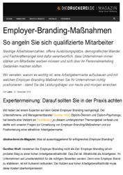 Fachartikel Wirtschaft Fachbeiträge Management Literatur Employer-Branding-Maßnahmen