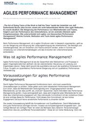 Agiles Performance Management